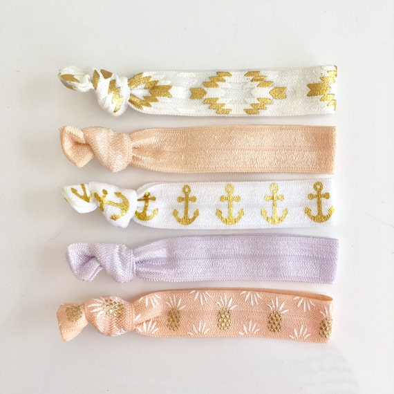 hair tie bracelets, party favours, hair accessories, nautical accessory, beach bracelets, mermaid friendship bracelets, bridesmaid gift
