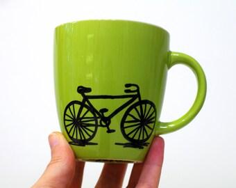 Biker gift bicycle gift Bike mug - bike gifts cycling gift for men - bicycle art - coffee mug cyclist fahrrad - regalo per ciclista