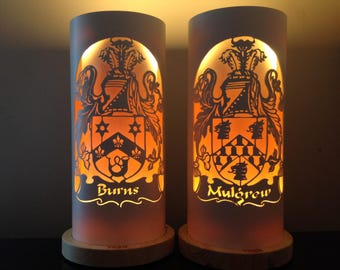 Family crest  heraldic coat of arms table lamp