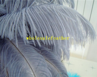 100 pcs Grey 12-14INCH ostrich feather plumes for wedding centerpieces wedding decor party supply