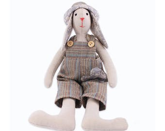 Rabbit Stuffed Doll Making Kit DIY Easy Sewing Project Kit