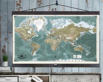 World travel map etsy the most detailed world travel map push pin travel maps 40x60 hanging map printed gumiabroncs Image collections