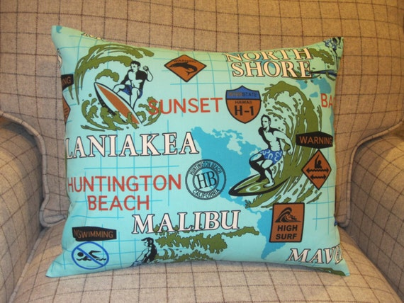 Man Cave Pillow With Cup Holder : Surfing pillow man cave malibu pipeline