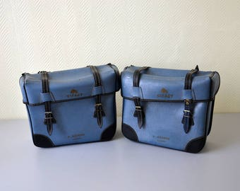 Pair of vintage panniers SIFACT / Bicycle saddlebags / vespa, moped ou motorcycle bag 70s