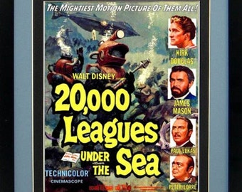 Twenty Thousand Leagues Under the Sea Framed Advertisement Poster
