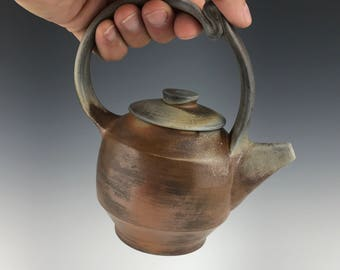 Soda Fired Teapot holds 10 ounces