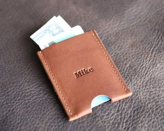 Personalized Groomsmen Gift - The Jefferson Fine Leather Card Holder Wallet - Groomsman Gifts - Wedding Party Gift - Best Man Gift - Wallets