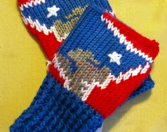 Fingerless Gloves Wrist Warmers New England Patriots Adult Sizes