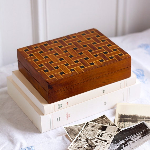Woven Marquetry Box
