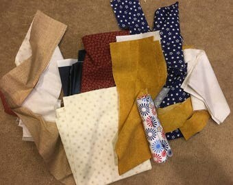 Patriotic red, white and blue scrap bundle