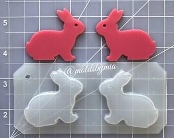 ON SALE New Bunnies flexible plastic resin mold set ~ 2pc