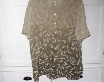 CREATION WORKSHOP silk blouse size 44 EN - 1980s