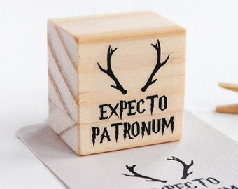 EXPECTO PATRONUM, Harry Potter stamp, expecto patronum stamp, harry potter party decoration, harry potter favor, geeky birthday harry potter