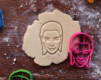 Kim Kardashian Cookie Cutter // fondant cutter // cookie stamp // for custom cookies // personalized cookie cutter