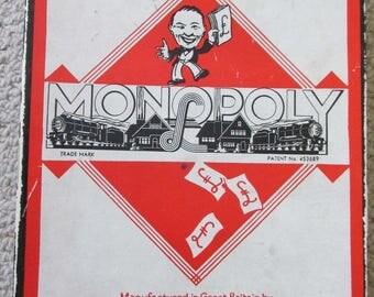 Vintage WWII era British Monopoly Game (NO board)
