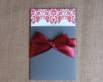 Wedding Invitations Letterpress | 100% Cotton Invitations | Damask Wedding Invitations | Sample