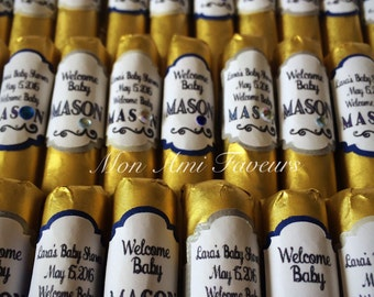 Modern Classic Baby Bling Belgian Chocolate Cigars Baby Announcement Set of 50