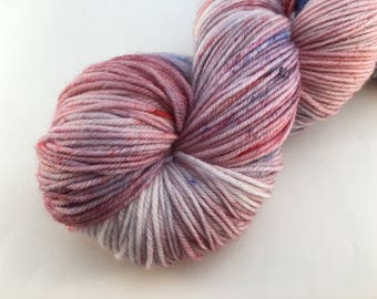 Hand dyed yarn Victoria sock -'Speckled Forest fruit'