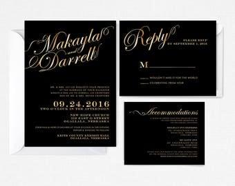 black tie wedding invitations  etsy, invitation samples