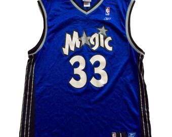Vintage Orlando Magic Grant Hill NBA Basketball Jersey by Reebok Rare 90s Blue Large