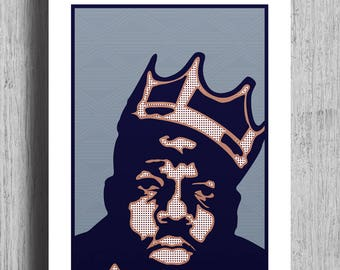 BIGGIE Poster Print | Biggie Smalls | Notorious B.I.G |  Biggie smalls print | Hip Hop | Rapper Print | Biggie