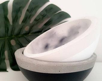 Handmade concrete bowl