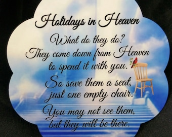 The Empty Chair, Holidays in Heaven, Free Shipping