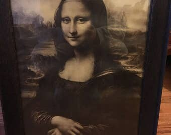 Mona Lisa artwork framed