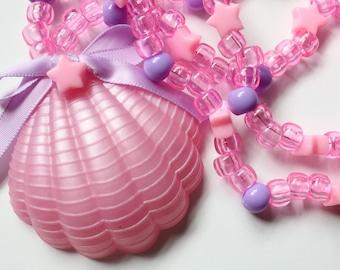 Starry Pink Mermaid Pendant