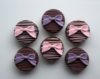 Chocolate Covered Bow Oreo's - Baby Shower, Bridal Shower, Birthday Party, Princess Party
