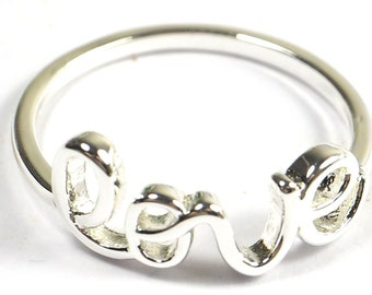 Silver Plated LOVE Ring