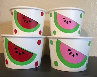 Watermelon Party Snack Cups