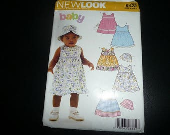 McCall's & New Look Girls Newborn- Infant Sewing Patterns Uncut