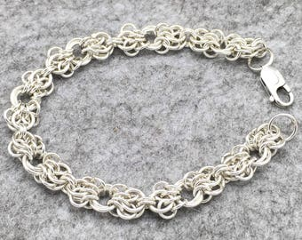 Sterling Silver Chainmaille Butterfly Bracelet Hallmarked