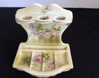Hand Painted Made in Japan Toothbrush Holder