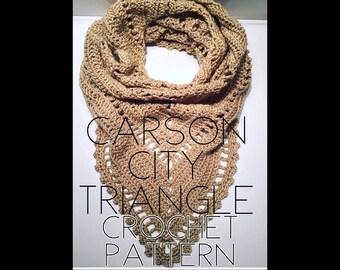 Carson City Triangle Crochet Pattern | Scarf Pattern | Shawl Pattern | Crochet Shawl Pattern | Crochet Scarf Pattern