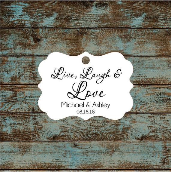 Live Laugh Love Wedding Reception Favor Tags # 669 Qty: 30 Tags