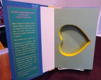 Hollow Book Safe, Hiding Place, Heart Shaped Secret Compartment