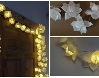 String lights, Lights garland, Battery lights, Garland, Wedding lights, String lights, Flower lights,  Fairy lights, Home lights