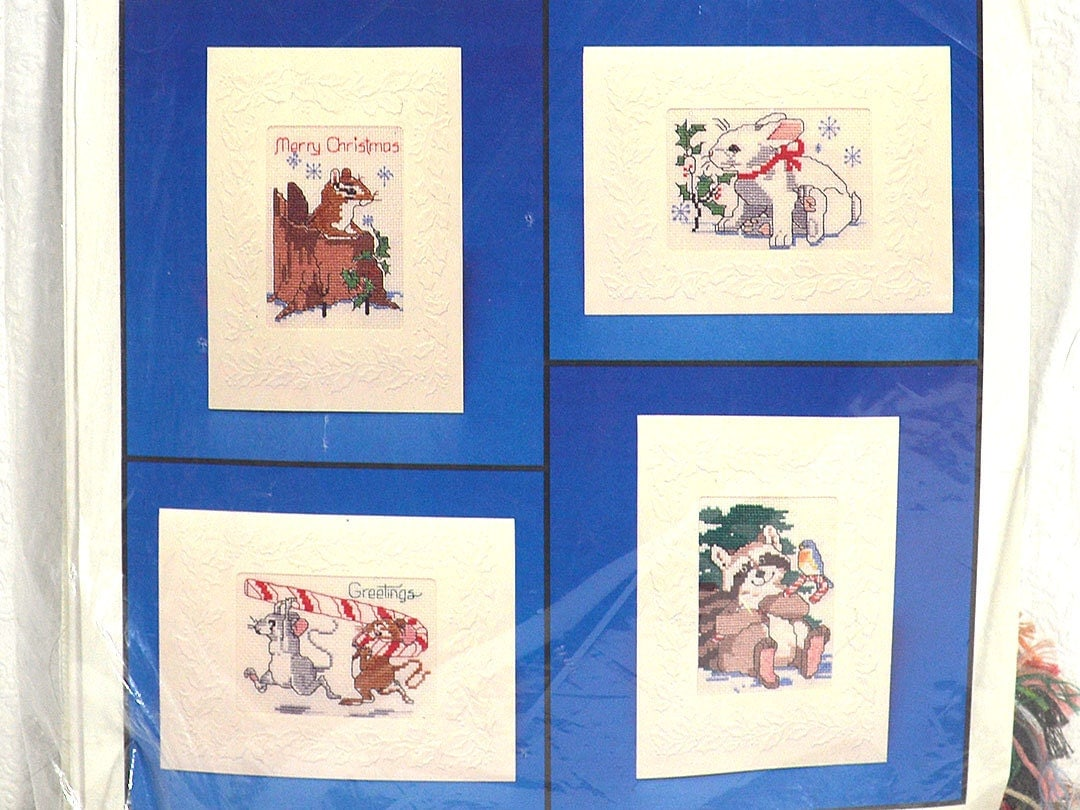 Counted Cross Stitch Christmas Card Kit Current by ...