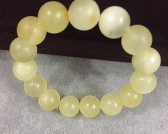 Baltic amber bracelet, stretchy bracelet, round amber beads, round beads bracelet, amber jewelry, elegant bracelet