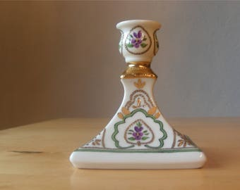 Tettau hand painted candle holder, signed Lucia Völlmin 1996
