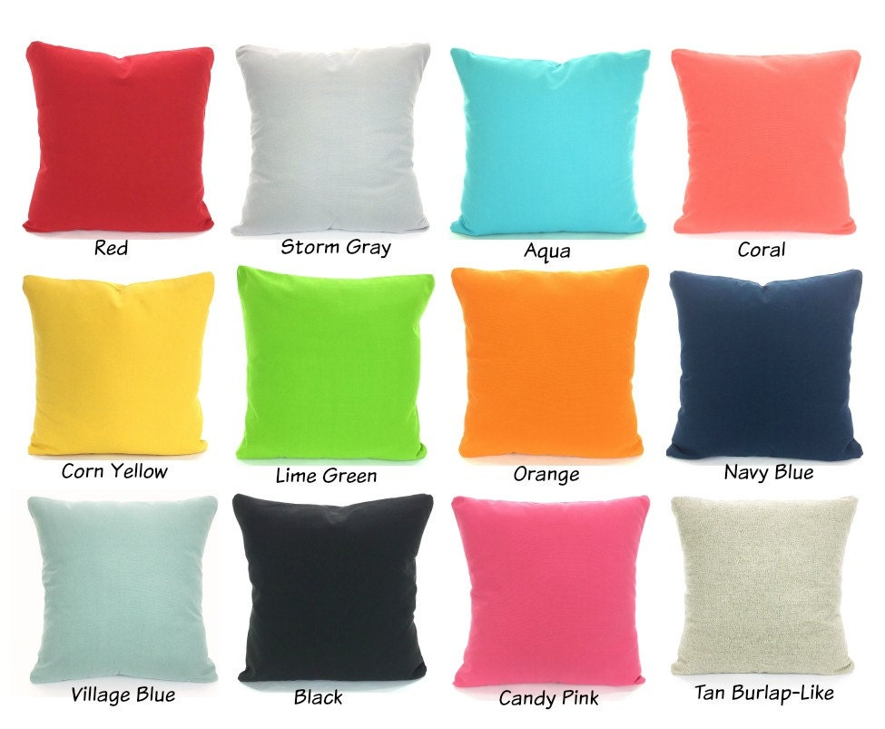 Solid Color Pillow Covers Cushions Decorative Throw Pillows