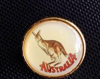 Australia Brooch Australia Badge Kangaroo Brooch Kangaroo Badge Kangaroo Pin Aussie Brooch Kangaroo Accessory Australia Outback
