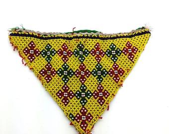 Small Beaded Kuchi Triangular Textile Tribal Motifs Fusion ATS Belly Dance
