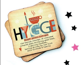Hygge -  Rustic Wooden Coaster