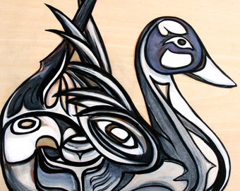 Northern Pintail Duck Original Painting