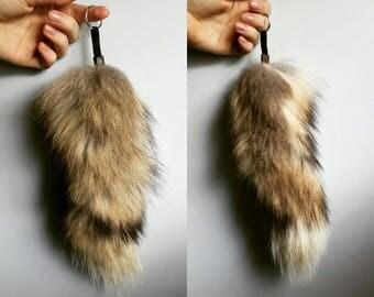 Fox Tail Keychain