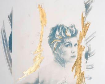 The In-Between (Sonja) / Figurative / CYANOTYPE / Origintal Fine Art