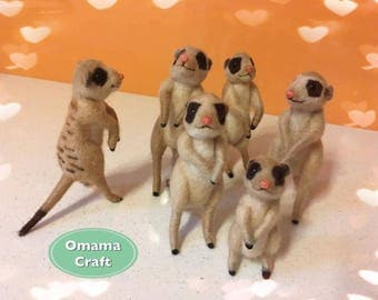 Needle Felt Animal Sculpture - Meerkat